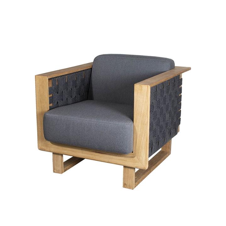 Angle Lounge Chair Outdoor af Cane-line, mørkegrå