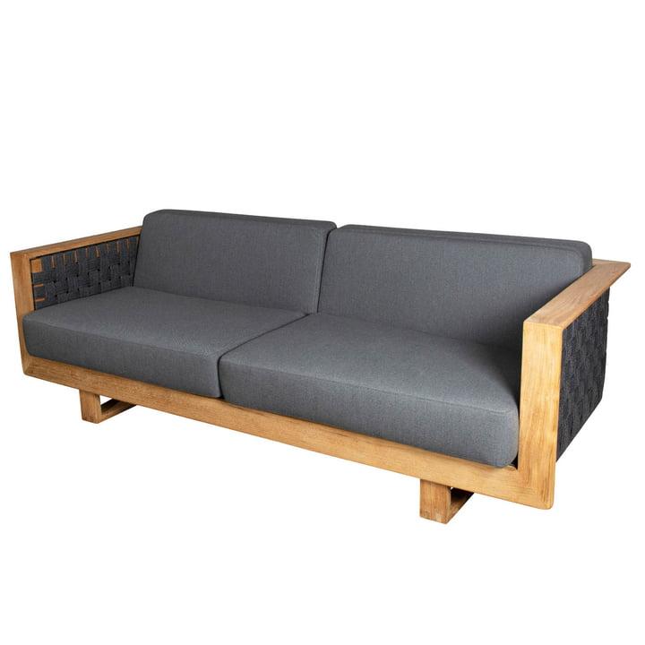 The Angle 3-Seater Sofa Outdoor af Cane-line, mørkegrå