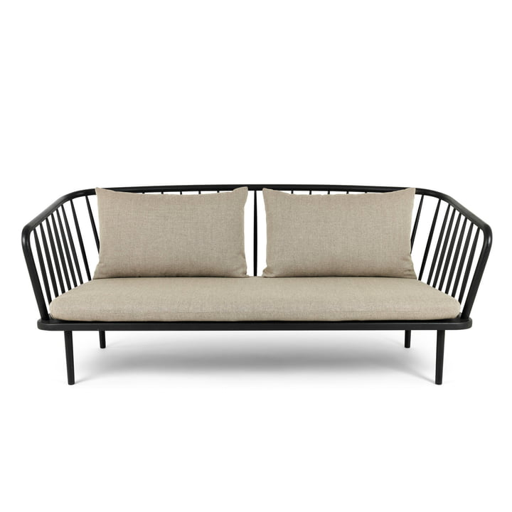Mollis sofa, sort / brungrå af Mater