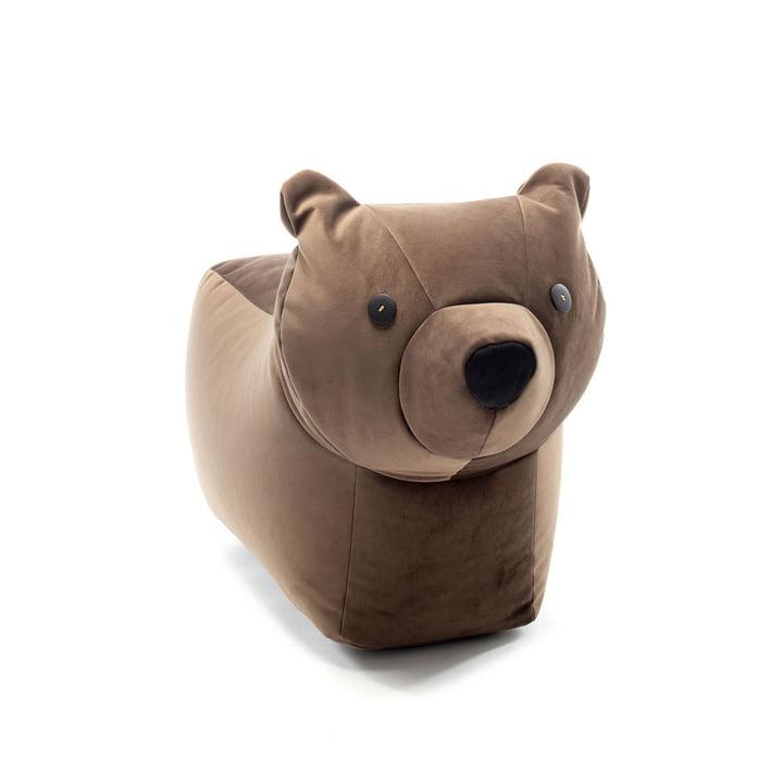 Happy Zoo legetøjsbjørn Browny af Sitting Bull, mørkebrun