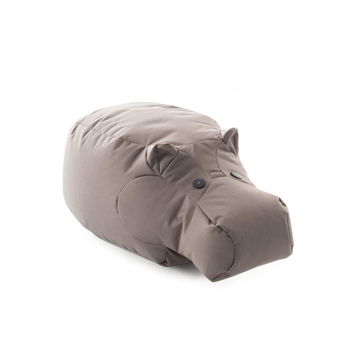 Den Happy Zoo legetøj Hippo af Sitting Bull, grå-brun