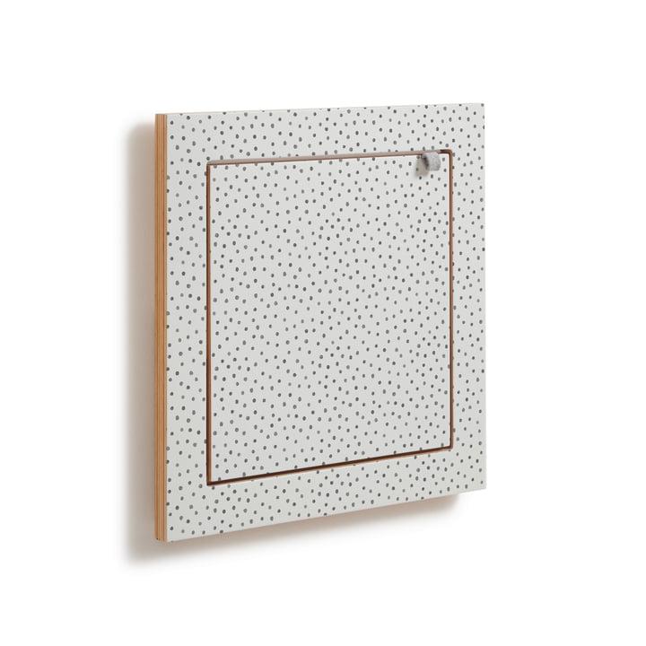 Fläpps hylde, 40 x 40 cm, 1 hylde af Ambivalenz i akvarel prikker af Kind of Style