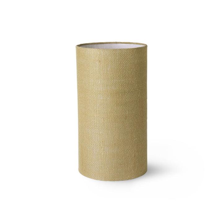 HKLiving - bordlampeskærm jute, Ø 22 cm, jadegrøn