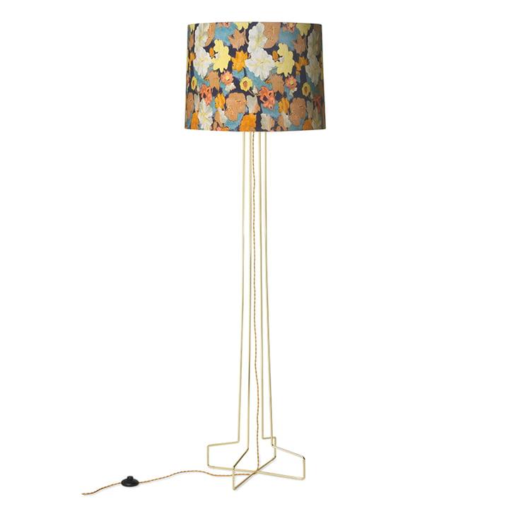 DORIS Vintage gulvlampe fra HKliving, blomsterprint