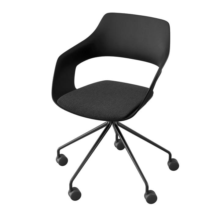 Occo 222/41 drejestol af Wilkhahn, sort