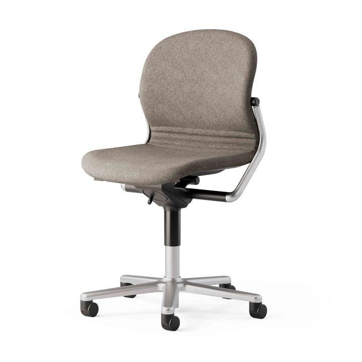 FS 211/8 kontorstol uden armlæn af Wilkhahn, hvid / beige