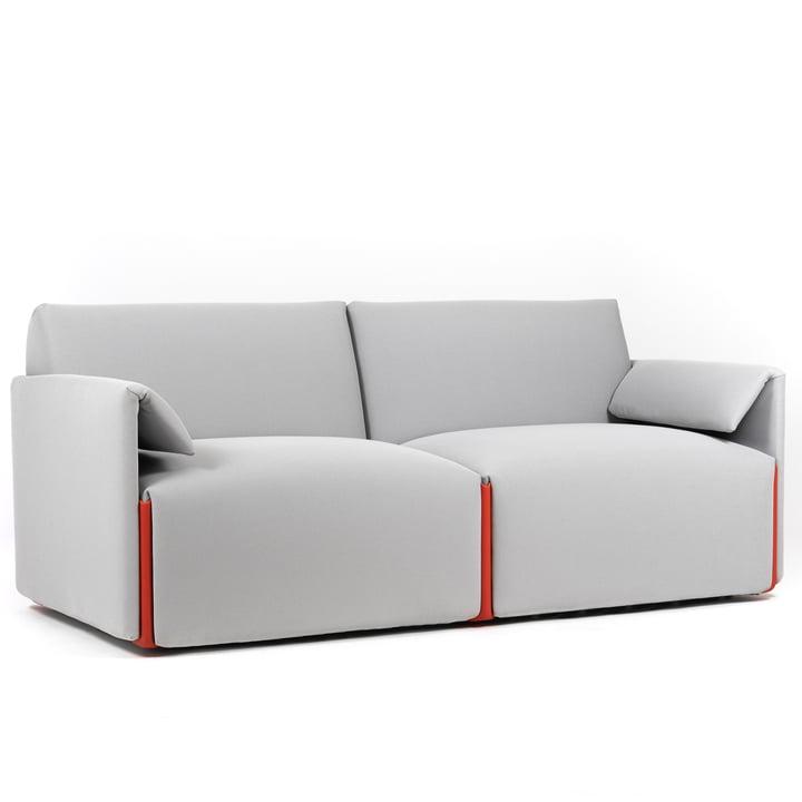 Costume sofa 2-pers. Komposition B med armlæn, Fidivi One 8504 / orange 1110C af Magis