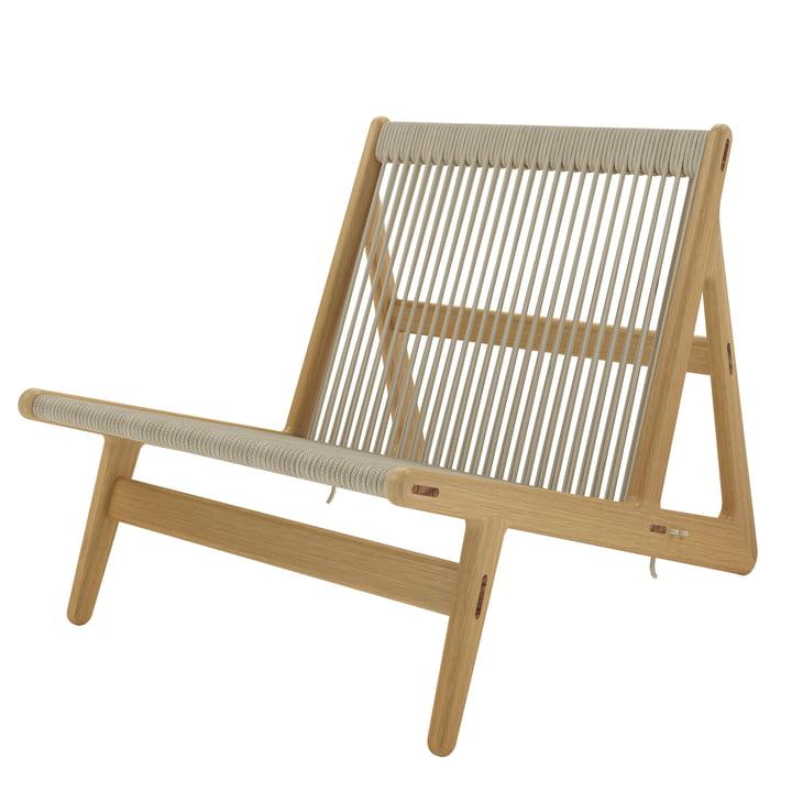 MR01 Lounge stol af Gubi i egetræ / natur kurvearbejde