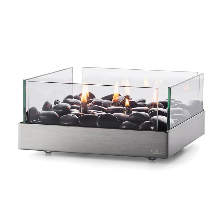 Fireplace bordpejs 23 x 23 cm fra Philippi i sølv / sort