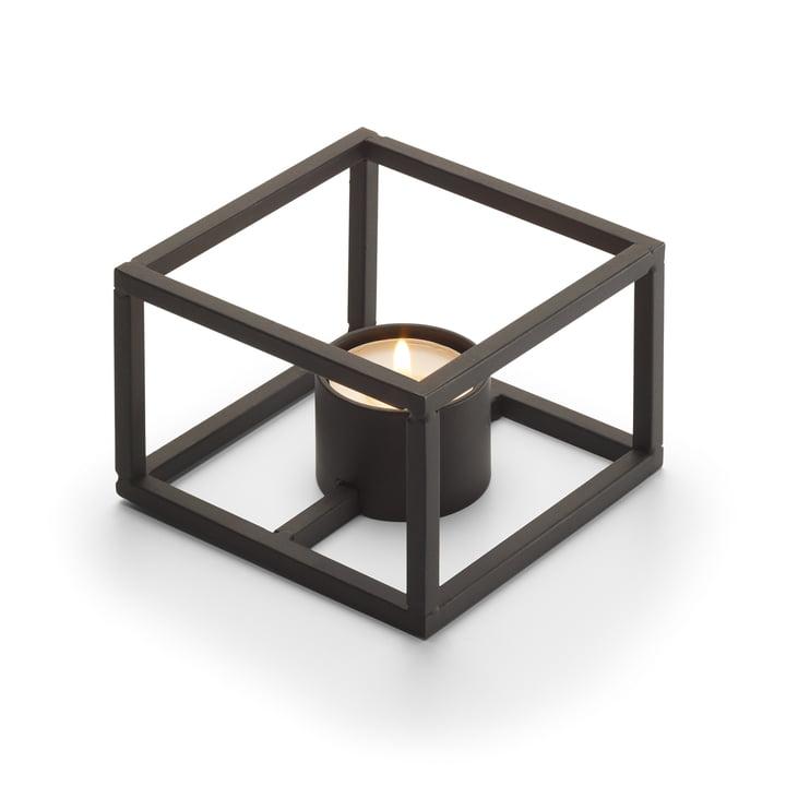 Cubo fyrfadsholder til 1 fyrfadslys 10 x 10 cm fra Philippi i sort