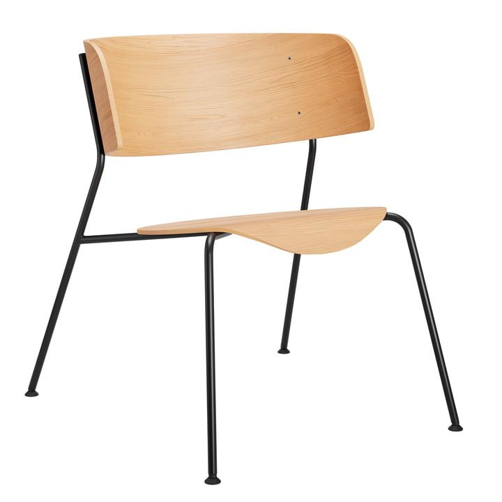Wagner lænestol fra Objekte unserer Tage i matlakeret eg / sort