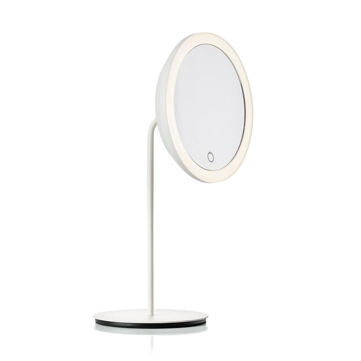 Kosmetisk spejl med 5x forstørrelse og LED-belysning Ø 18 cm fra Zone Denmark i hvidt
