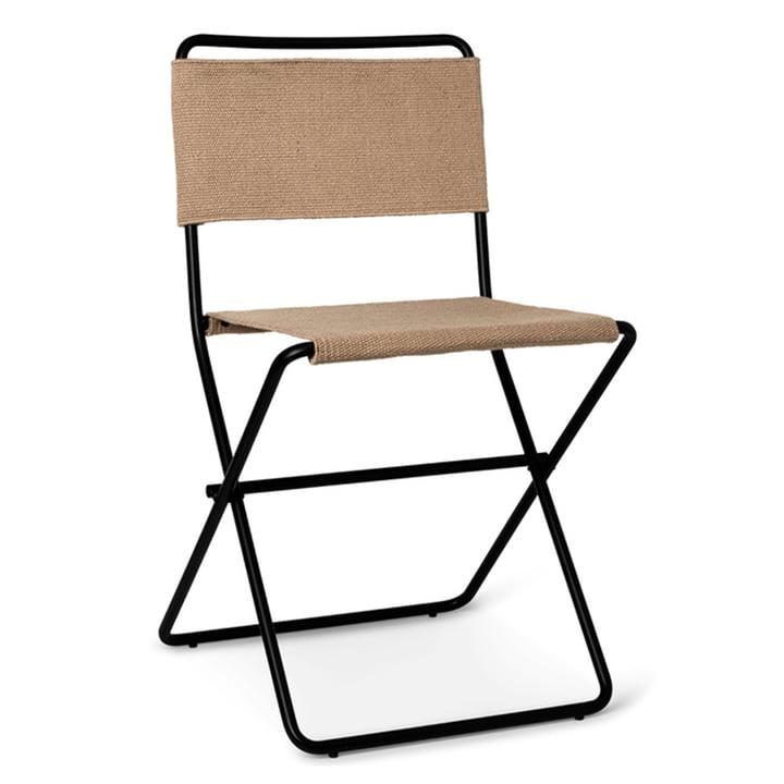 Desert Dining Chair af ferm Living i sand / sort