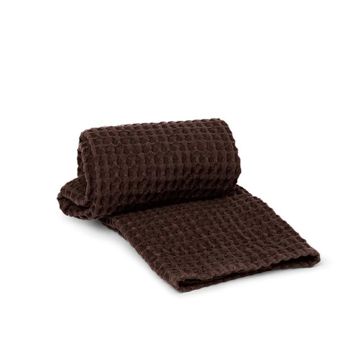 Organic håndklæde 50 x 100 cm fra ferm Living i chokolade