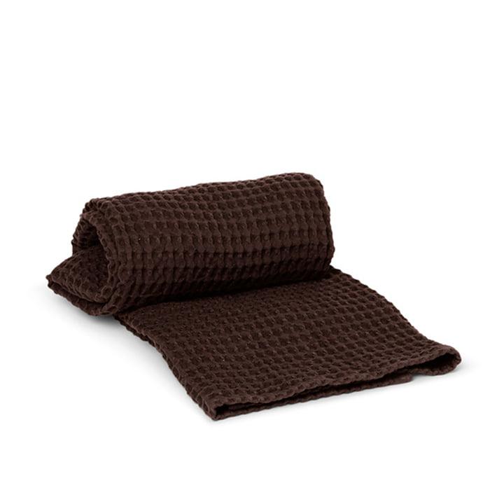 Organic badehåndklæde 70 x 140 cm fra ferm Living i chokolade