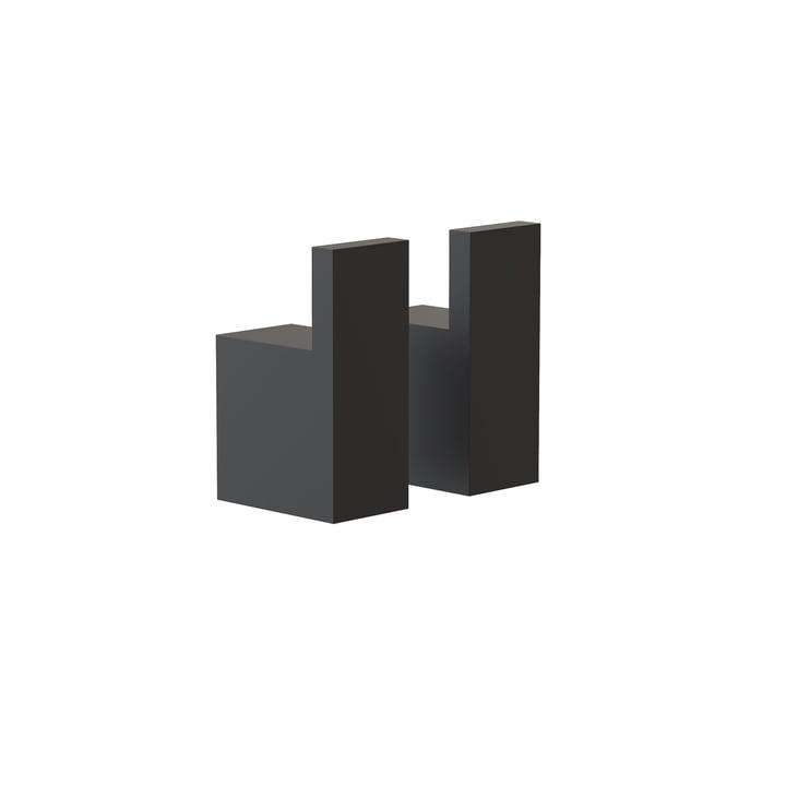 Quadra vægkroge 8 fra Frost, sort (sæt med 2)