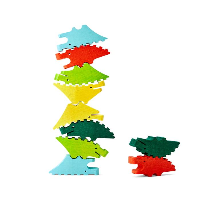 Croc Pile Mini trækrokodiller fra Areaware, farverige (sæt med 10)