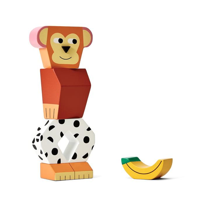 Block Party trælegetøj fra Areaware i abe-varianten