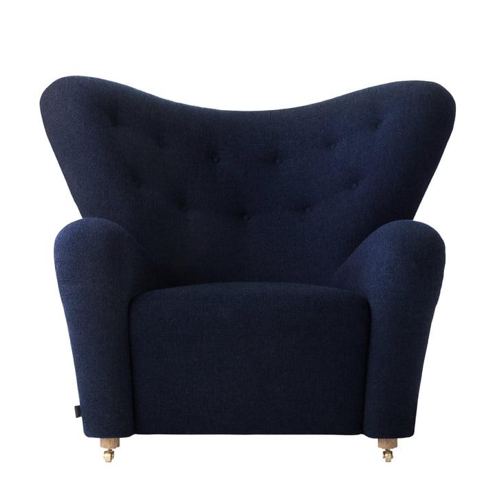 The Tired Man lænestol af by Lassen i røget eg / mørkeblå (Hallingdal 764)