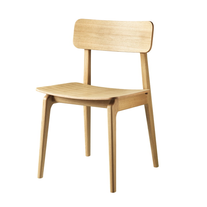 J175 Åstrup stol af FDB Møbler i naturlig eg