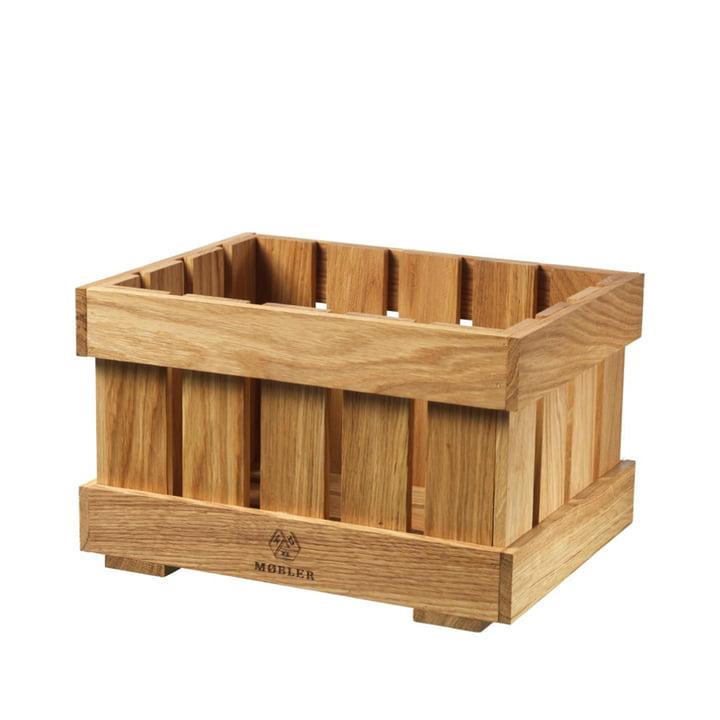 X1 Apple Box lille frugtæske FDB Møbler i naturlig eg
