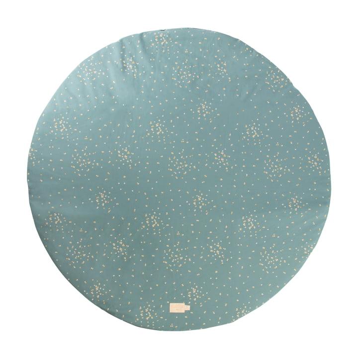 Full Moon mat Ø 105 cm med Nobodinoz i gold confetti / magic green