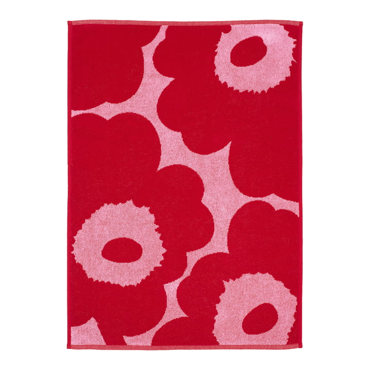 Marimekko - Unikko håndklæde 50 x 100 cm, lyserød / rød