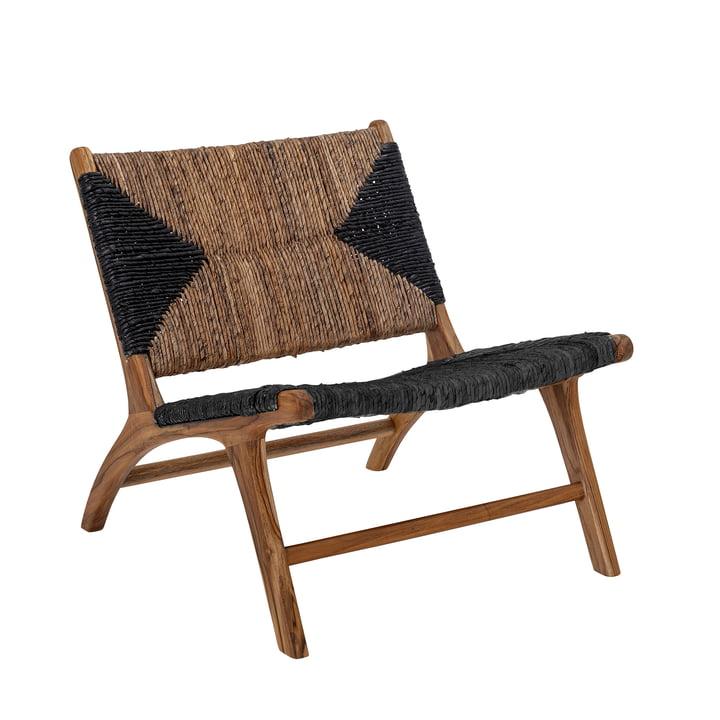 Grant lænestol fra Bloomingville, teaktræ, sort