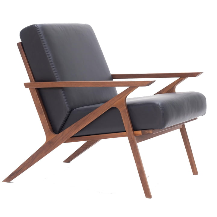 Jesper Lounge Chair af Nuuck i valnød