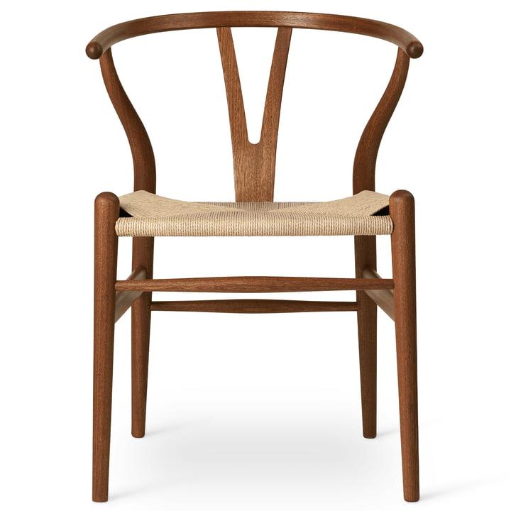 CH24 Wishbone Chair af Carl Hansen i olieret mahogni / naturfletning