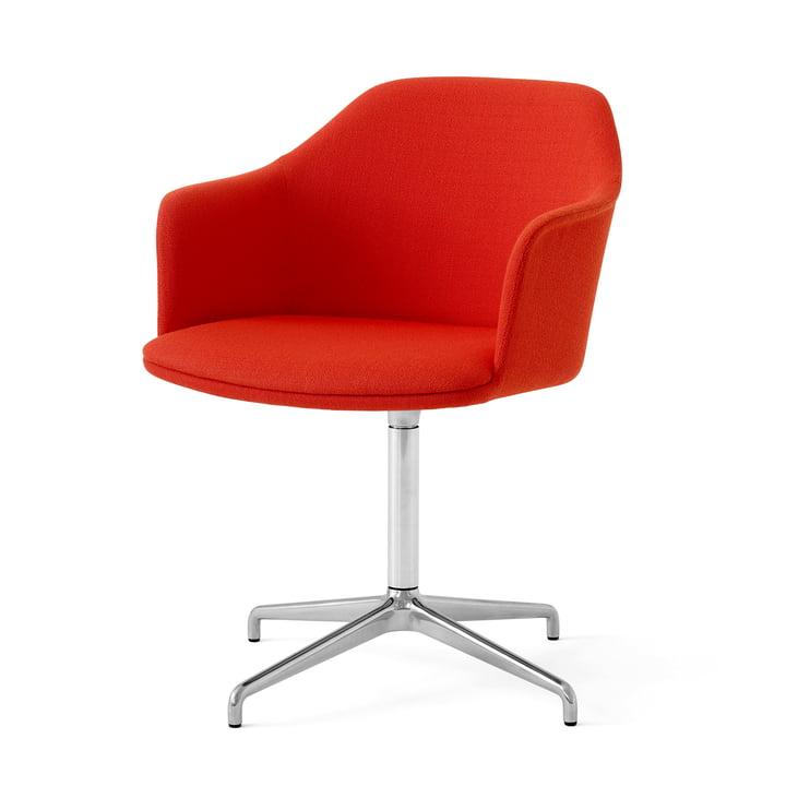 Rely HW41 lænestol, poleret aluminium / Kvadrat Vidar 542 af & tradition