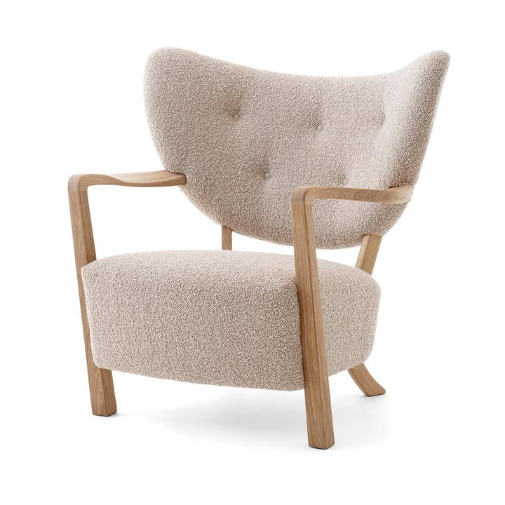 Wulff ATD2 Lounge stol, olieret eg / beige ( Karakorum 003 ) af & tradition