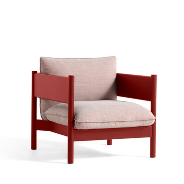Arbour Club lænestol fra Hay i farven Atlas 621 / vinrød