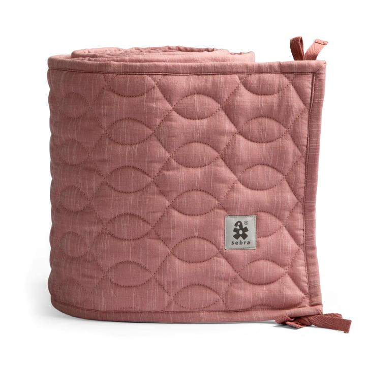 Baby kofanger fra Sebra i quiltet / blomstrende pink