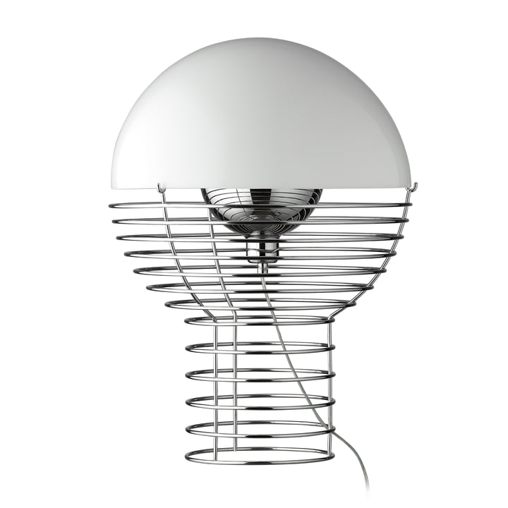 Tråd bordlampe Ø 40 cm, hvid af Verpan