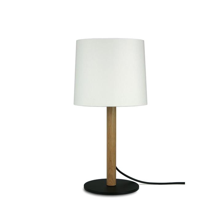 MIYU 45 bordlampe, naturlig eg, hvid af Maigrau