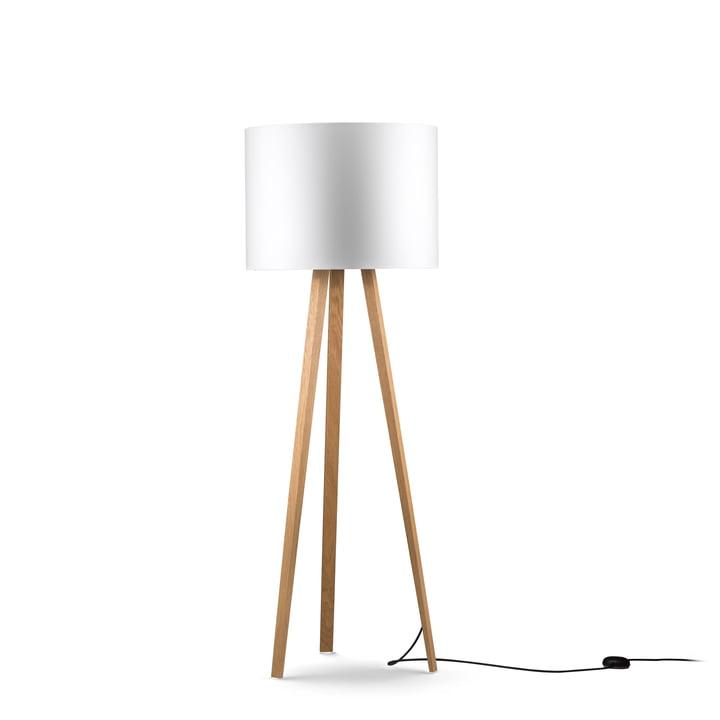 LUCA STAND gulvlampe fra Maigrau lavet af naturligt egetræ i hvidt