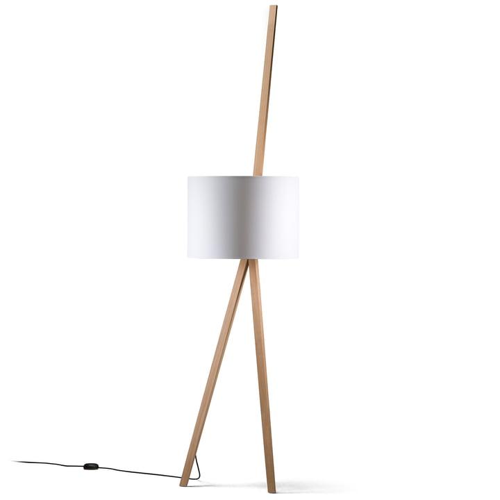 LUCA LEAN Maigrau lampe fra Maigrau lavet af naturligt egetræ i hvidt