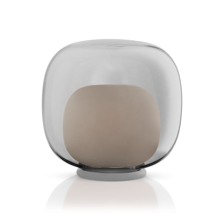LED glas lysestage fra Eva Solo i farven grå