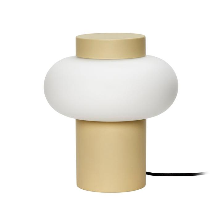 Opal glas bordlampe fra Hübsch Interior i gul