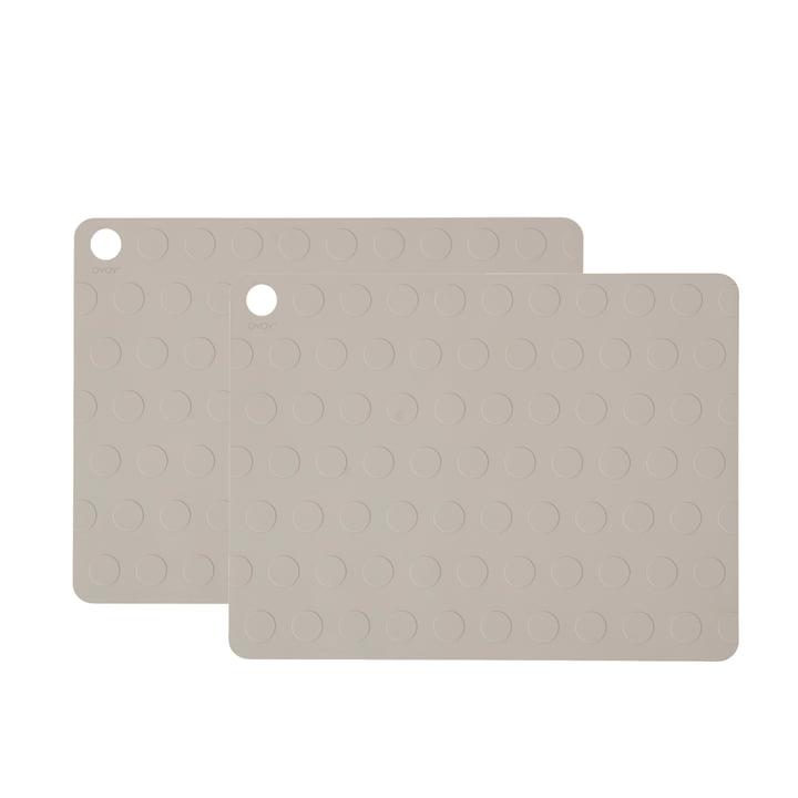 Dotto dækkeservietter fra OYOY 34 x 45 cm, grå (2 stk.)