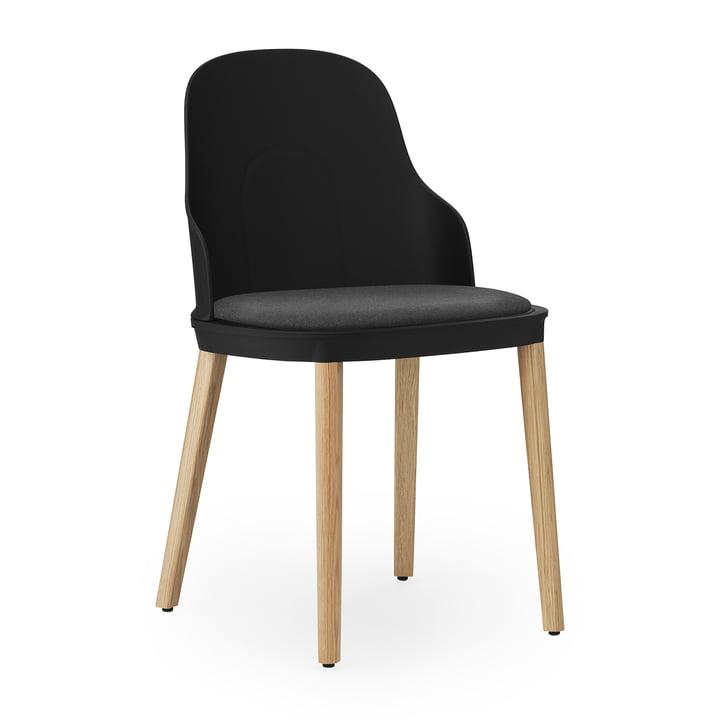 Allez stol eg betrukket med Normann Copenhagen i lærred / sort