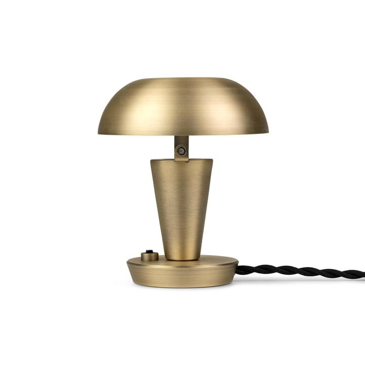 Tiny bordlampe fra ferm Living i messingversionen