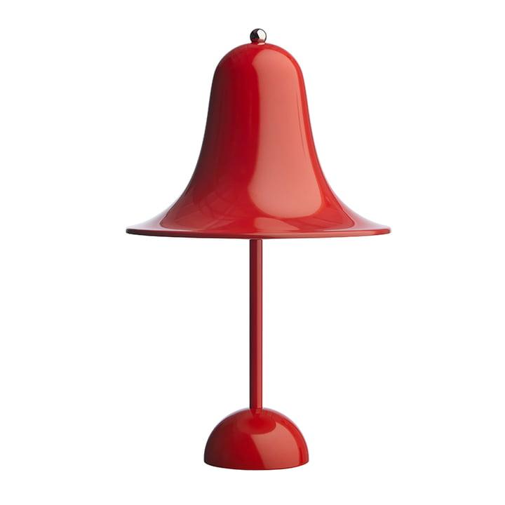 Pantop bordlampe Ø 23 cm fra Verpan i lys rød