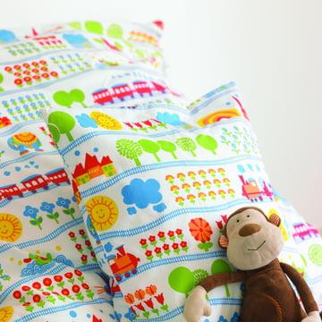 byGraziela – sengetøj til børn med togmotiv