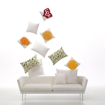 Suita sofa 3- personers med Graphic Print Pillow - Love fra Vitra