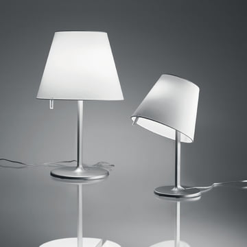 Artemide – Melampo Tavolo bordlampe, aluminiumsgrå