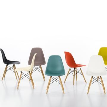 Vitra – Eames Plastic Side Chair DSW, forskellige modeller