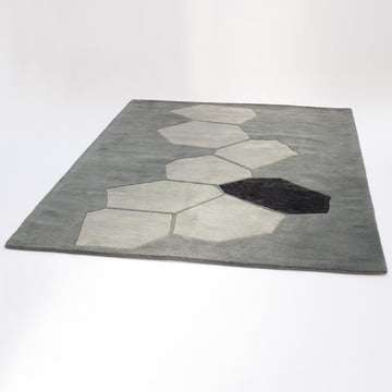 Ruckstuhl – LANDSCAPE tæppe, sølv – skråt