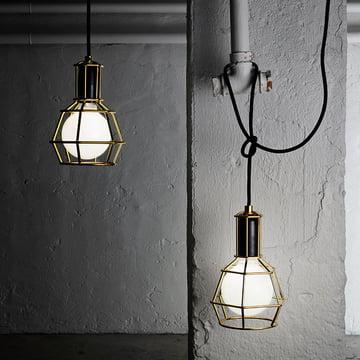 Design House Stockholm – Work Lamp, guld – med lys i